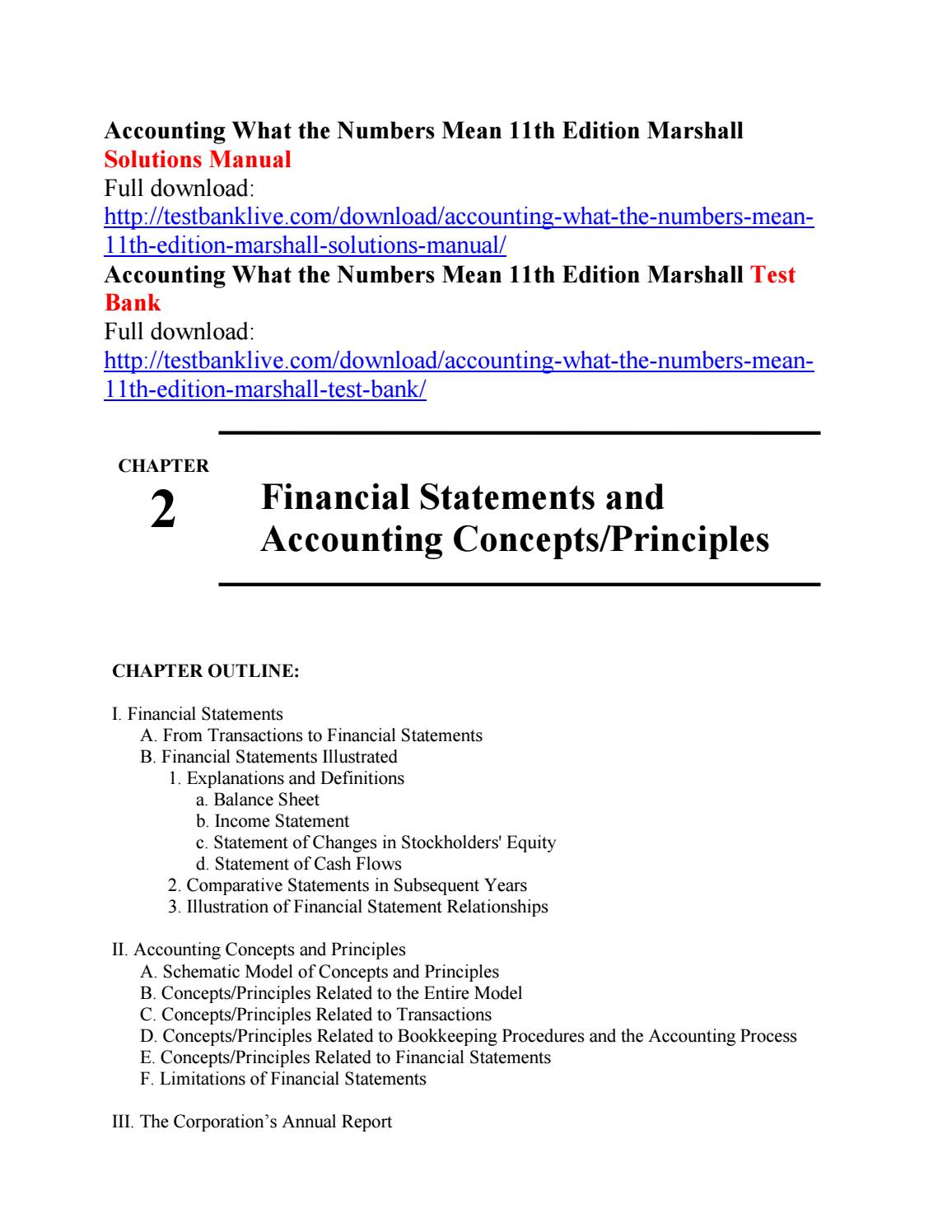 Accounting what the numbers mean 11th edition marshall solutions manual by  create111 - issuu