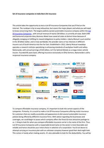 List Of Insurance Companies By Alyssa Issuu