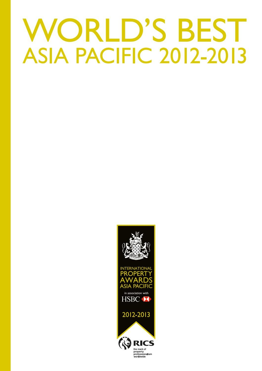 Asia Pacific's Best 2012-2013 by International Property