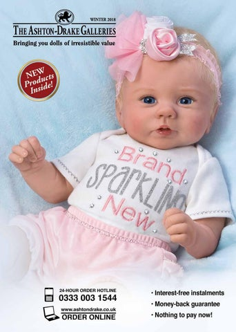 "ASHTON DRAKE SLEEP TIGHT EMMA BABY DOLL 16 /"" BY VIOLET PARKER NEW SO REAL"