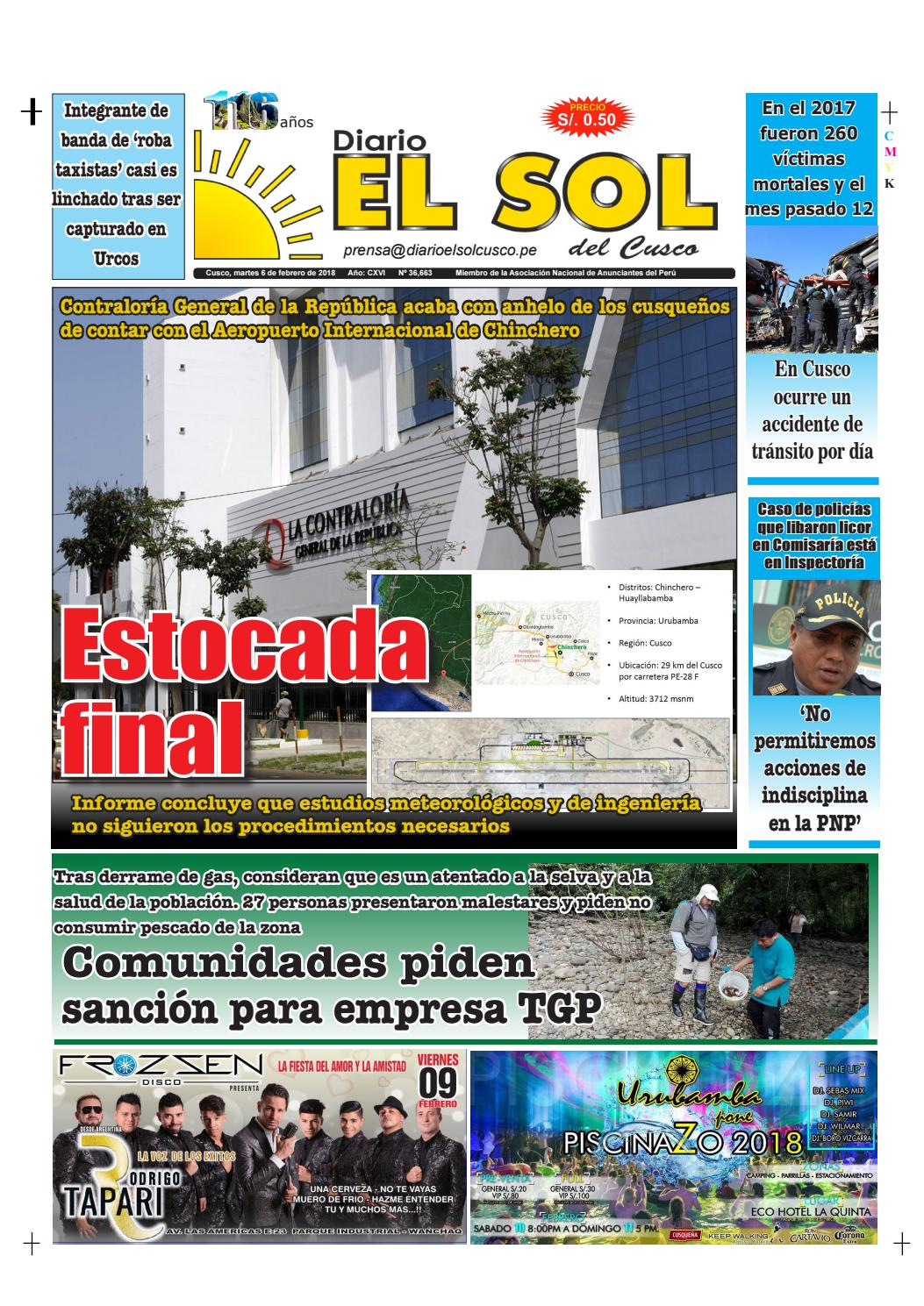06|02|18 by Diario El Sol del Cusco - issuu