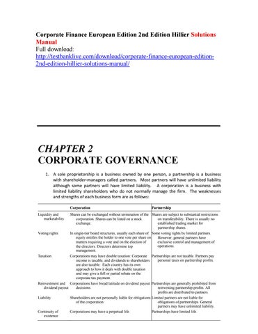 Corporate Finance Berk Demarzo Pdf