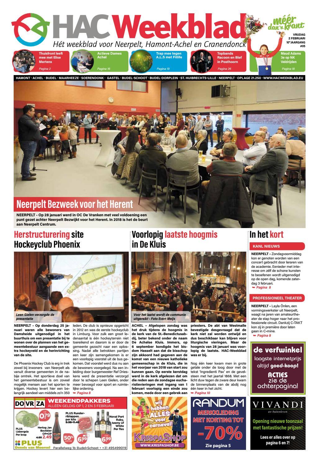 HAC Neerpelt week 05 2018 by HAC Weekblad issuu