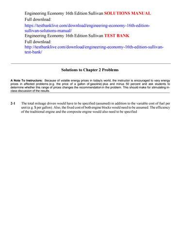 Engineering Economy Sullivan 15th Edition Pdf