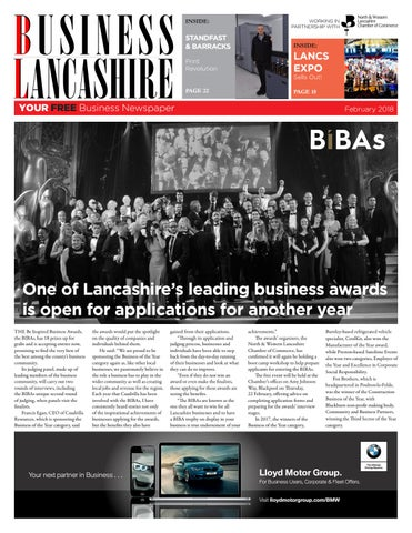 Business Lancashire February 2018 by The Samuel James Group