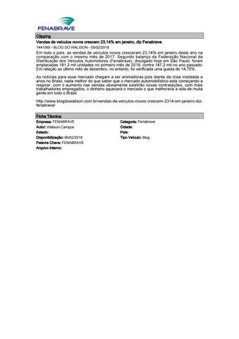 ec09bb136bfc0 Clipping Fenabrave 06.02.2018 by MCE Comunicação - issuu