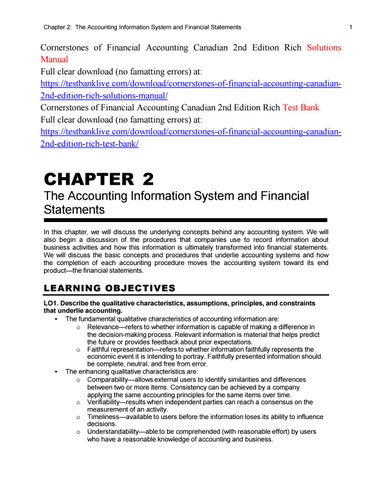 cornerstones of financial accounting canadian 2nd edition rich rh issuu com Cornerstone Student Loans Cornerstone Financial Credit Union