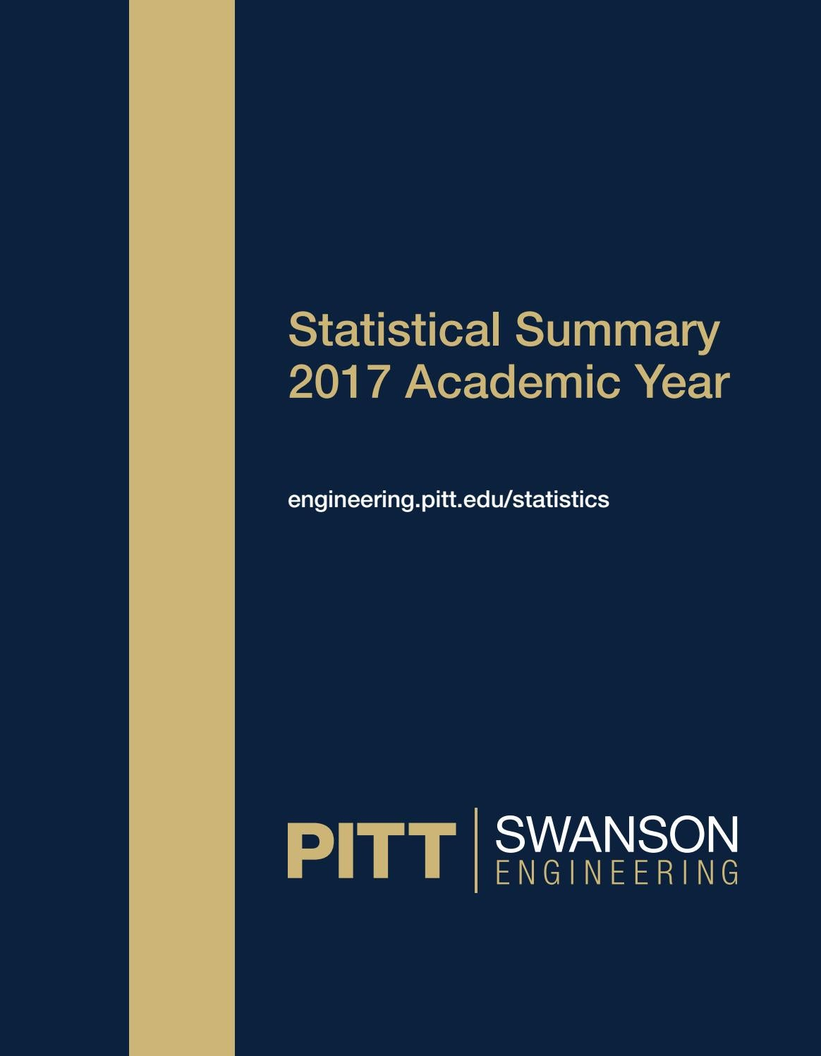 2017 Statistical Summary by PITT | SWANSON School of