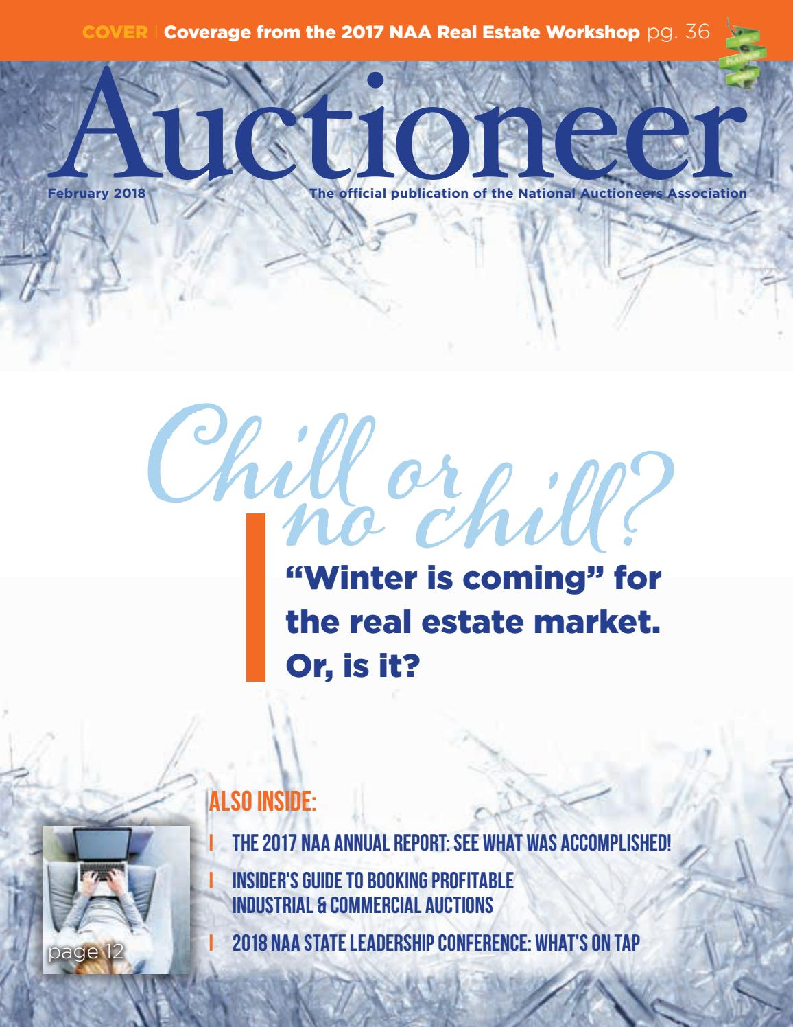 Auctioneer February 2018 By National Auctioneers Association Issuu Name Card Holder Binder 6224