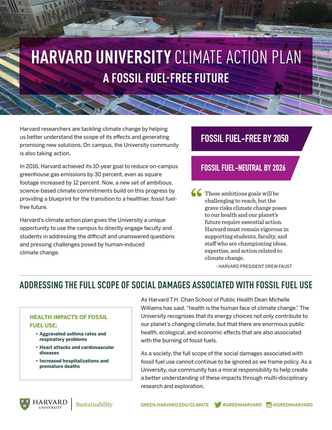 Harvard climate action plan by GreenHarvard - issuu