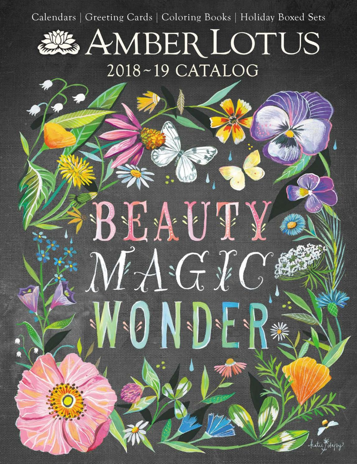 Amber Lotus Publishing 2018 2019 Catalog 2019 Calendars Greeting