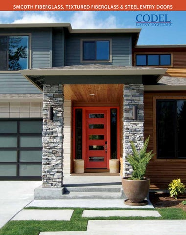 SMOOTH FIBERGLASS TEXTURED FIBERGLASS u0026 STEEL ENTRY DOORS & Codel Doors Brochure by Centra Windows Inc. - issuu