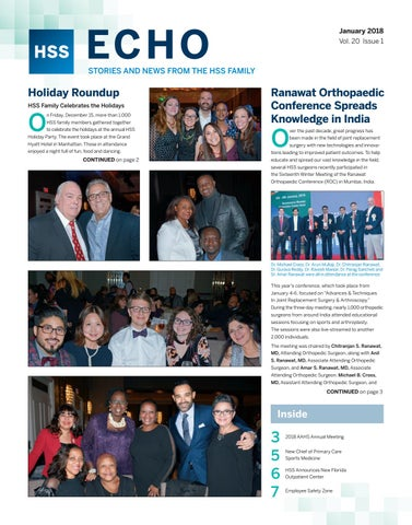 HSS ECHO - Jan 2018 by Hospital for Special Surgery - issuu