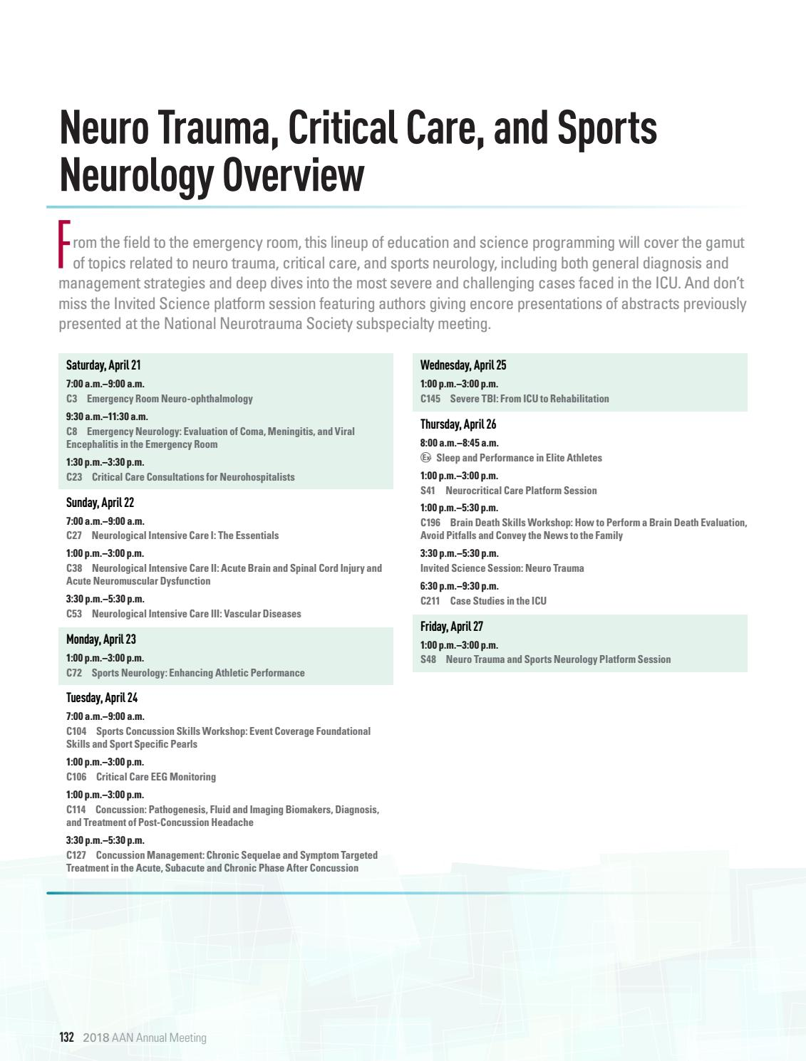 AAN 2018 Annual Meeting by American Academy of Neurology - issuu