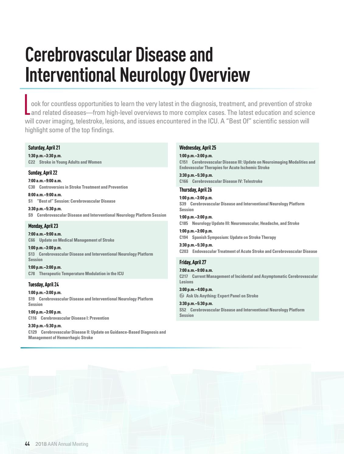 AAN 2018 Annual Meeting by American Academy of Neurology - issuu