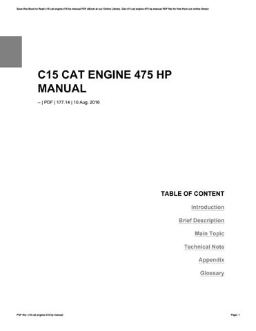 c15 cat engine 475 hp manual by farfurmail29 issuu rh issuu com