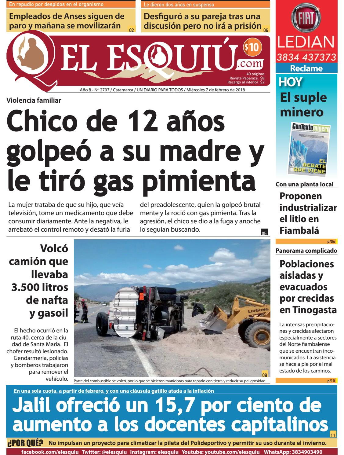 El Esquiu.com, miércoles 7 de febrero de 2018 by Editorial El Esquiú ...