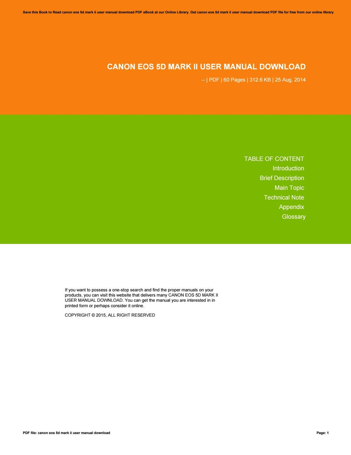 Canon eos 5d mk iii user manual.