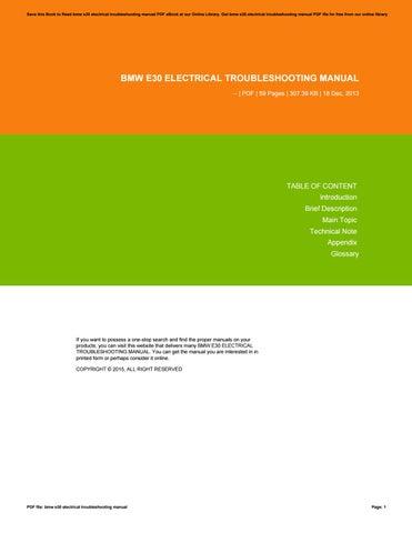 bmw e30 electrical troubleshooting manual by tvchd46 issuu rh issuu com BMW E39 M5 BMW E24