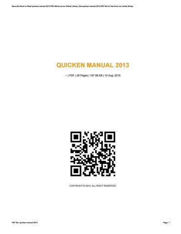 quicken manual 2013 by caseedu960 issuu rh issuu com quicken manual 2015 quicken instruction manual 2013