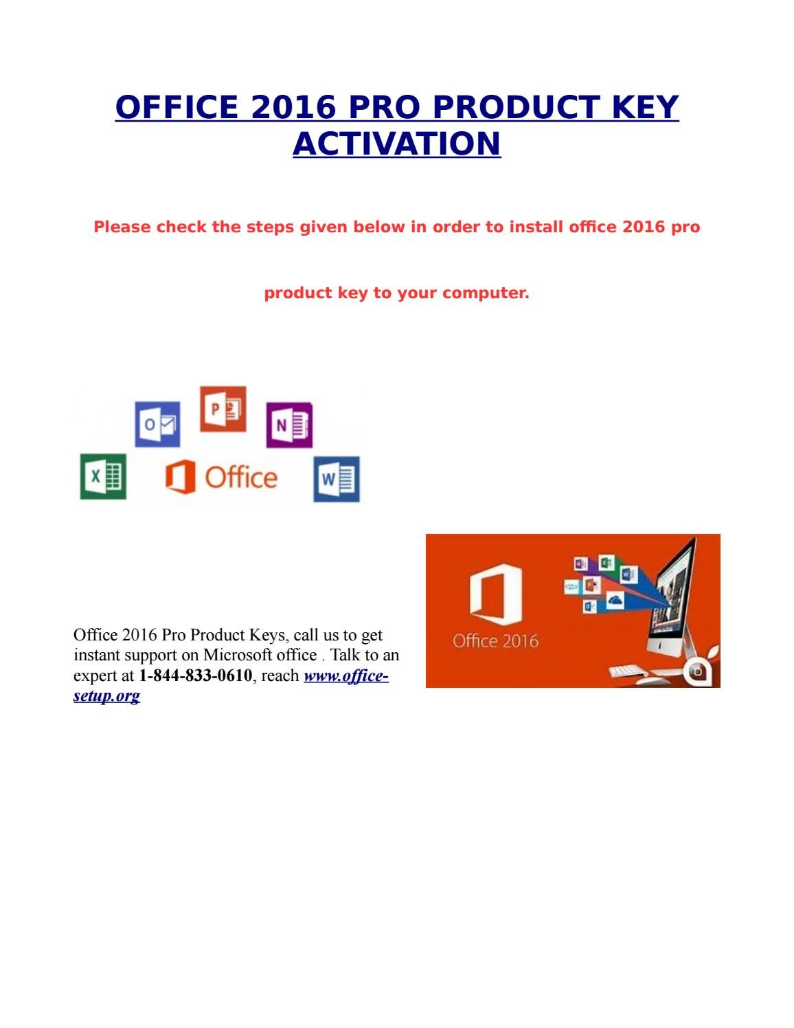 Office 2016 Pro Production Key Activation By Sarika Singh Issuu Microsoft