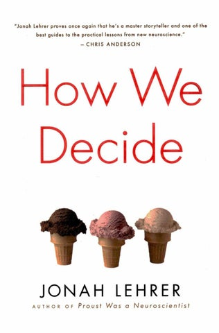 362a8f445613f Jonah lehrer how we decide by Caca Cvetkovic - issuu