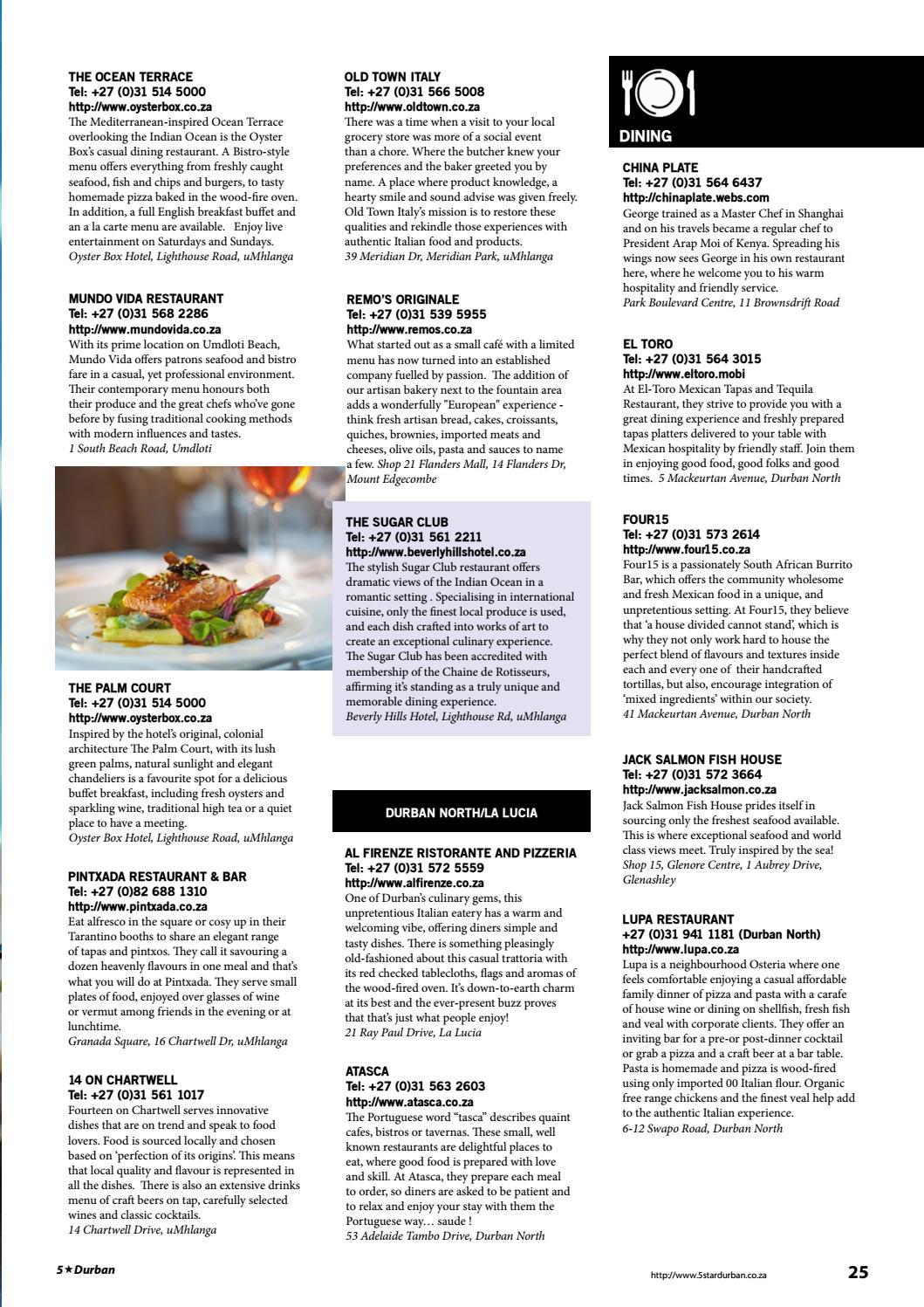 5 Star Durban Issue 14 By Sassy Publishing Pty Ltd Issuu
