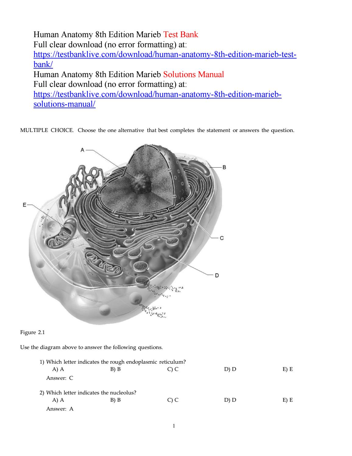 Human anatomy 8th edition marieb test bank by Cup927 - issuu