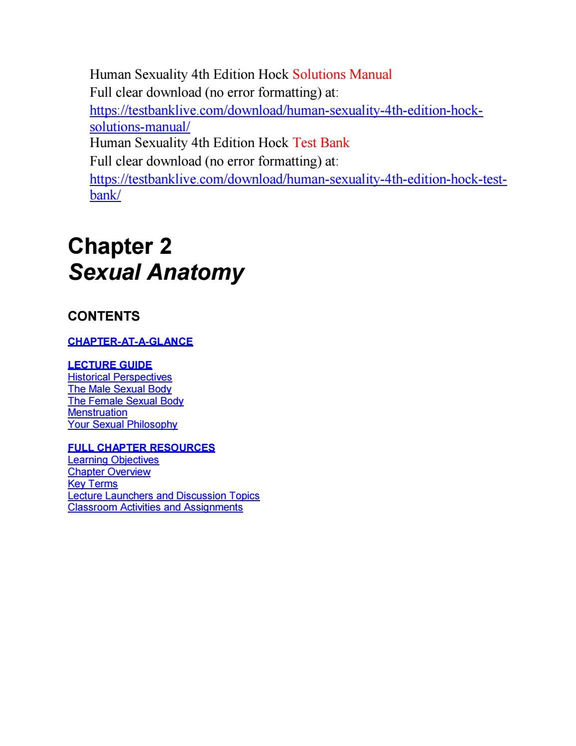 Human sexuality 4th edition hock solutions manual by Andrews172 - issuu