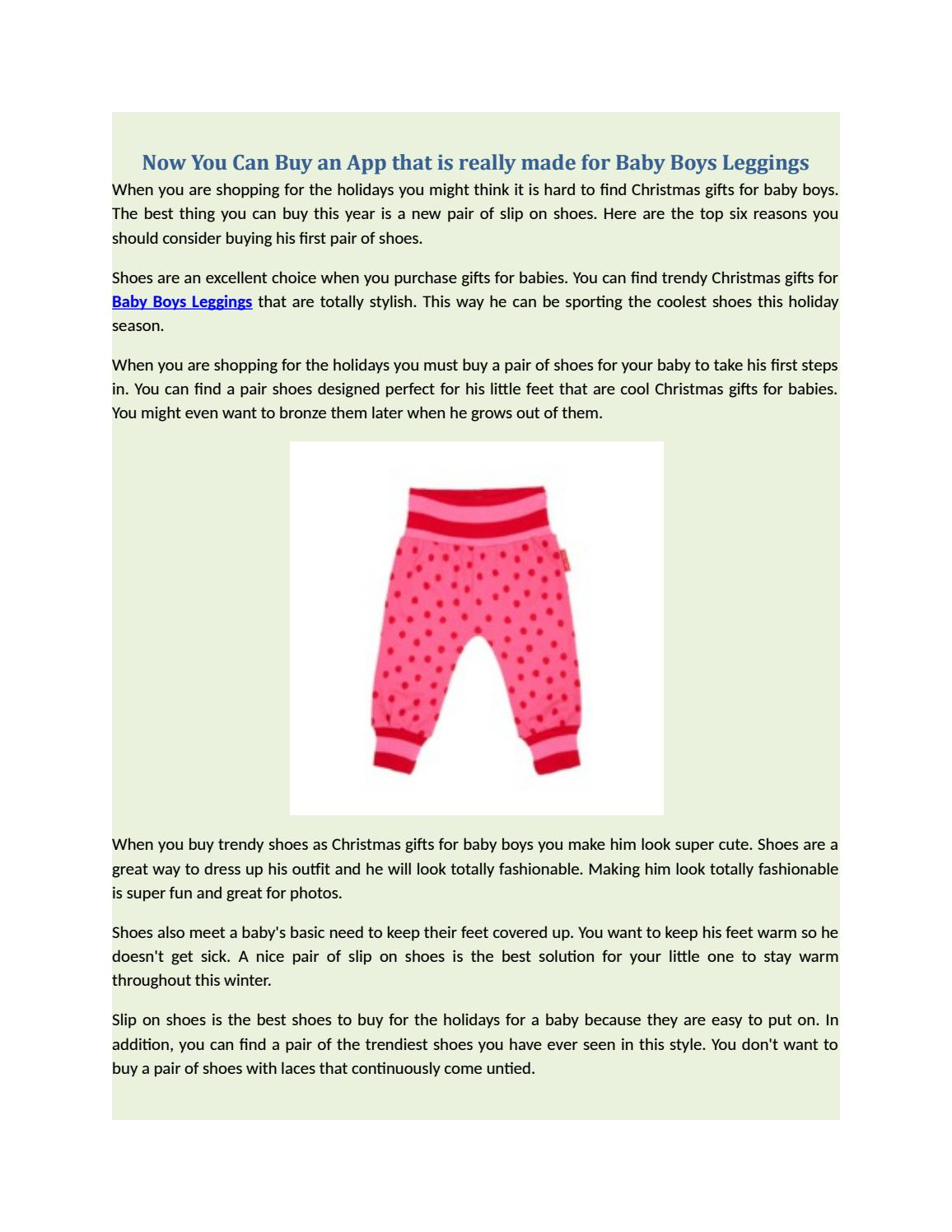 1c7f39f4d7 Now You Can Buy an App that is really made for Baby Boys Leggings by ...