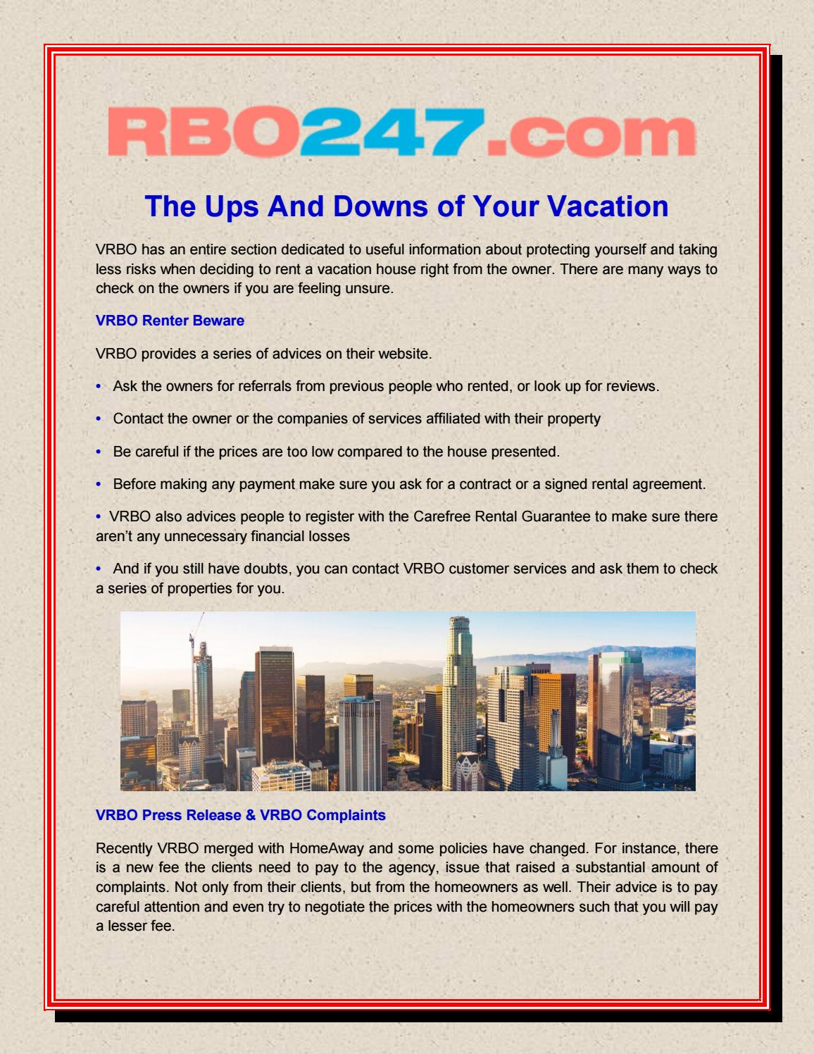The Ups And Downs Of Your Vacation By Rbo 247 Issuu