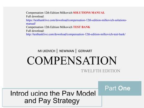 Compensation Milkovich Pdf
