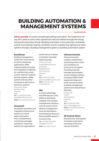 Page 21 of Building Automation & Management Systems