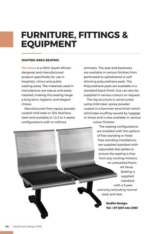 Page 44 of Furniture, Fittings & Equipment