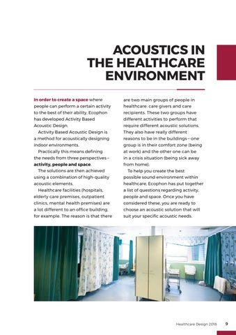 Page 9 of Acoustics in the Healthcare Environment