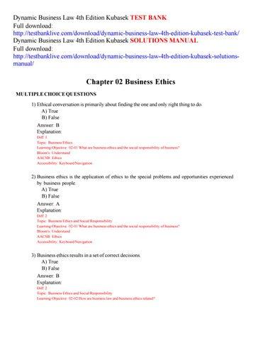 wph framework for business ethics