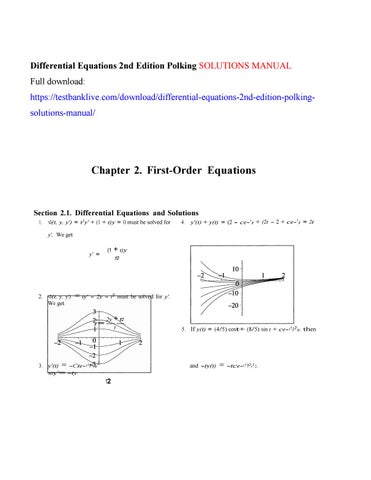 Differential equations 2nd edition polking solutions manual by differential equations 2nd edition polking solutions manual full download fandeluxe Gallery