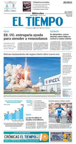 ef37b6188814 EL TIEMPO 07 02 2018 by Andres A. - issuu