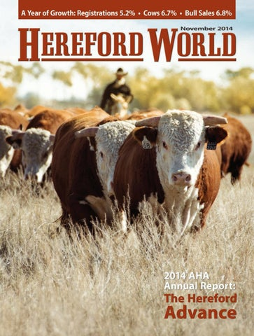 November 2014 Hereford World By American Hereford Association And
