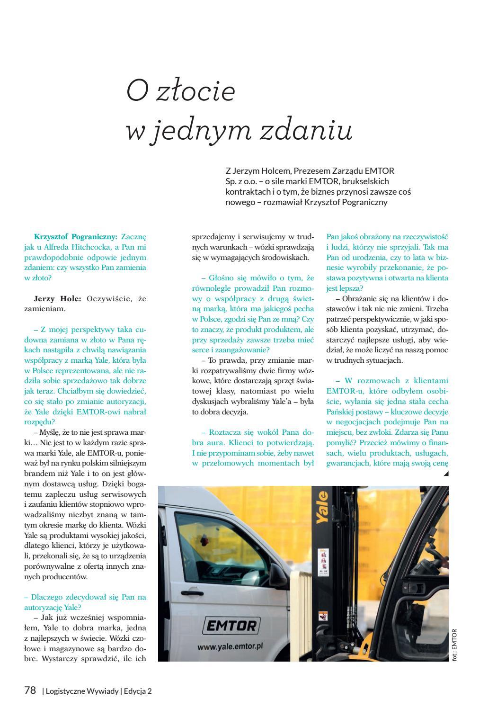 0fe42ff53e4dd1 Logistyczne Wywiady 2018 by Wydawnictwo Medialog - issuu