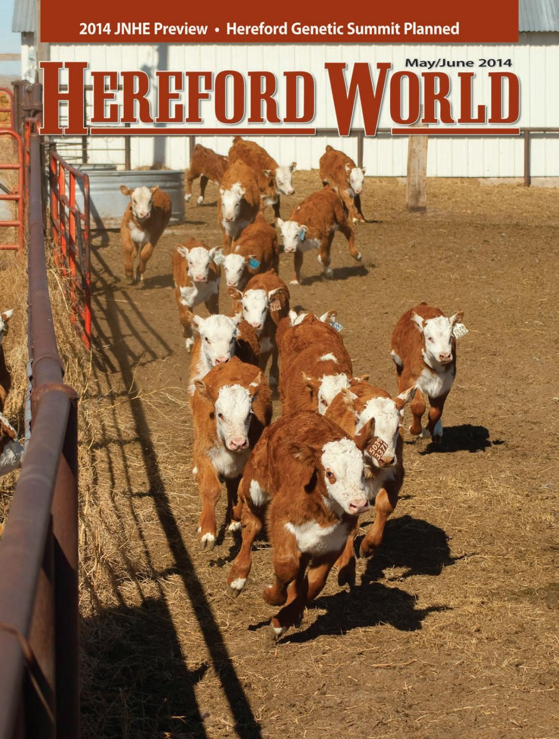 MayJune 2014 Hereford World by American Hereford