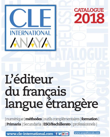 Catalogue cle international 2016 by cle international issuu catalogue cle international anaya 2018 fandeluxe Images