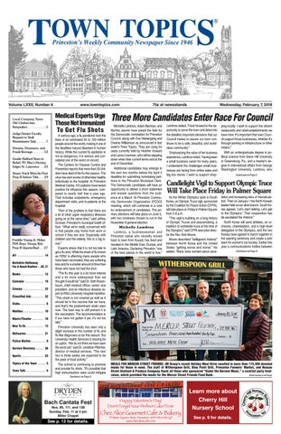 Town Topics Newspaper February 7 2018 By Witherspoon Media Group