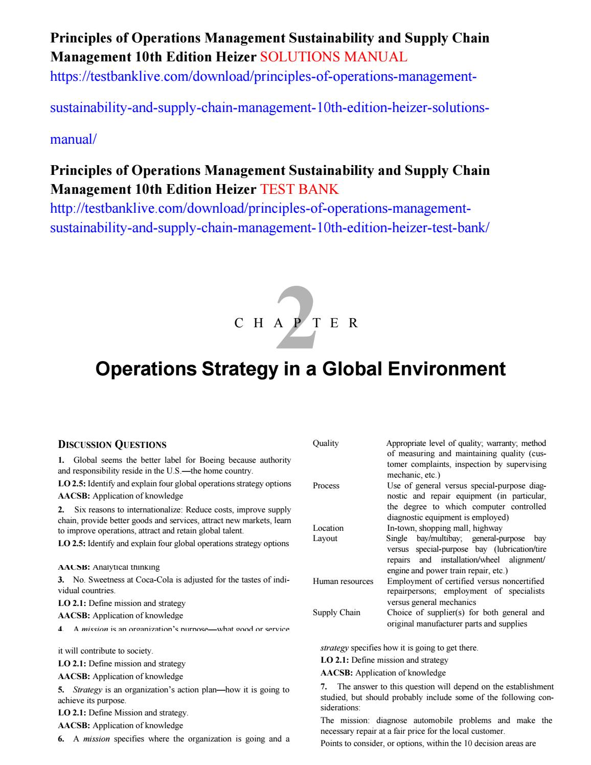 Principles of operations management sustainability and supply chain principles of operations management sustainability and supply chain management 10th edition heizer s by solomongeber issuu fandeluxe Choice Image