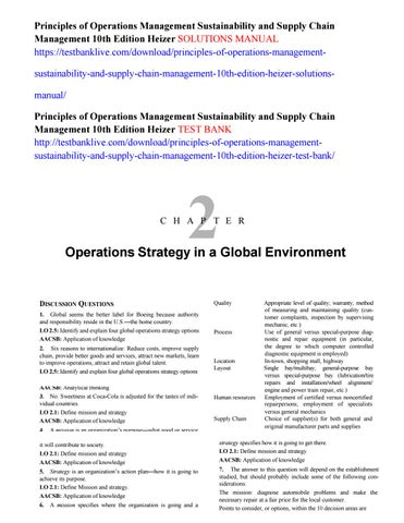 Principles of operations management sustainability and supply chain principles of operations management sustainability and supply chain management 10th edition heizer solutions manual fandeluxe Choice Image