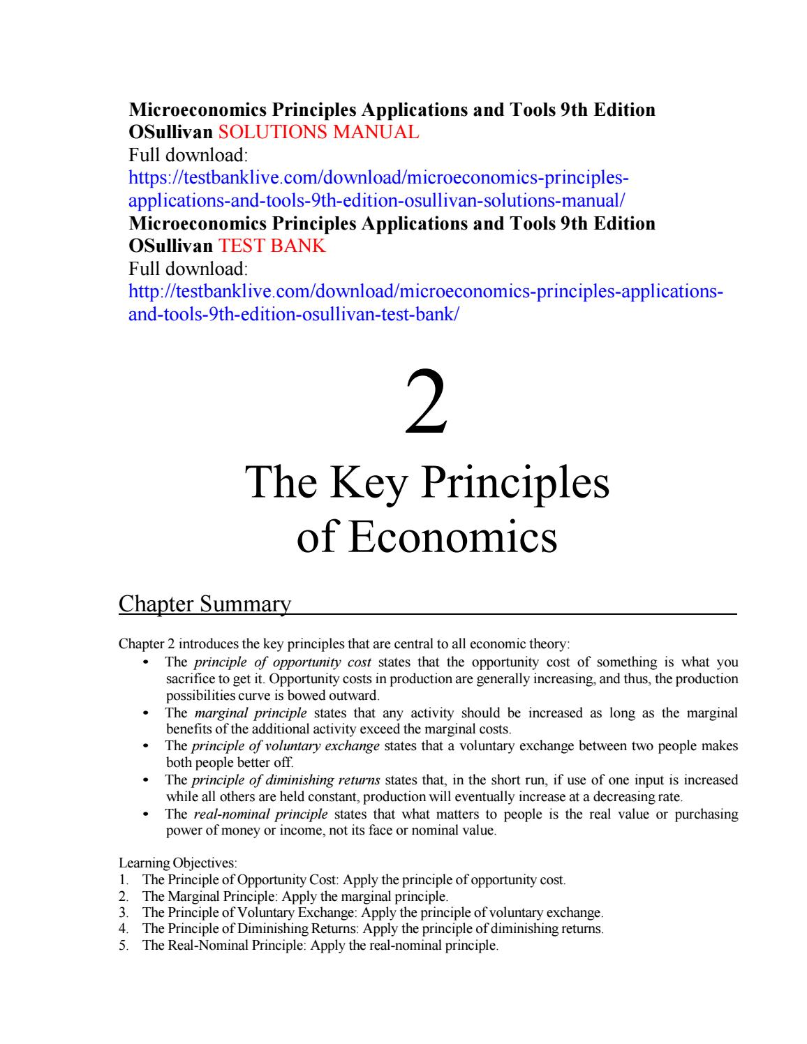 Microeconomics principles applications and tools 9th edition osullivan solutions  manual by SolomonGeber - issuu