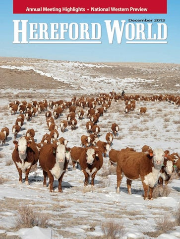 December 2013 Hereford World By American Hereford Association And