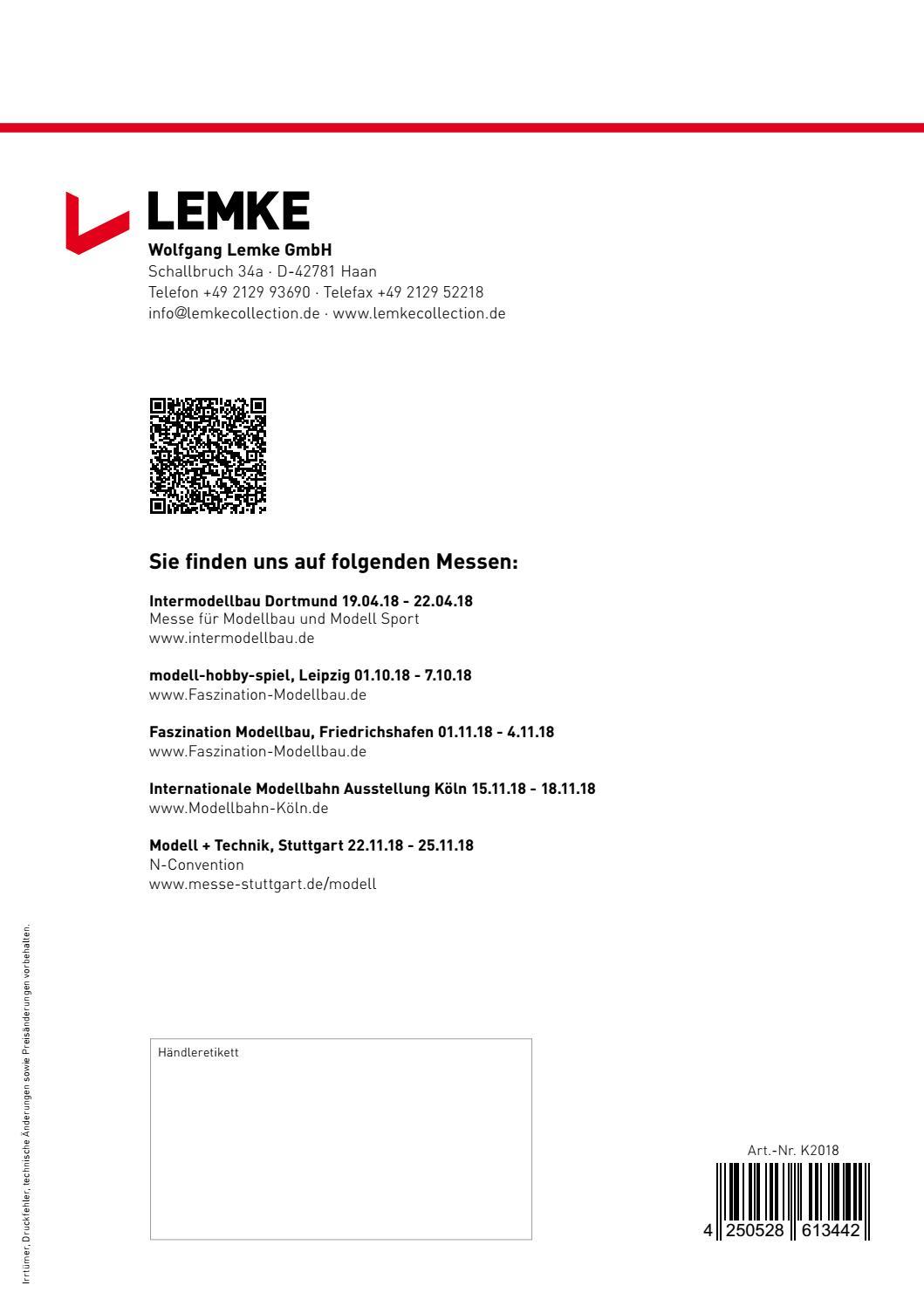Lemke K2018 Katalog 2018