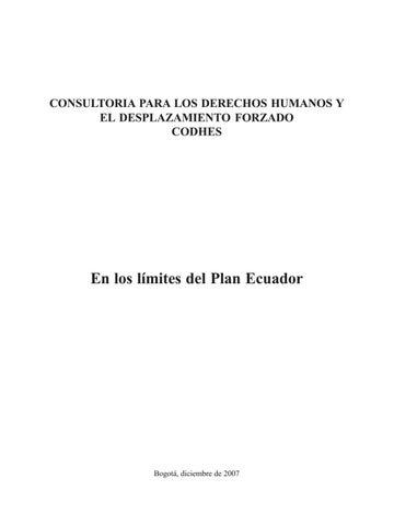 Documento CODHES 7 En los Límites del Plan Ecuador by CODHES - issuu 524b2626210