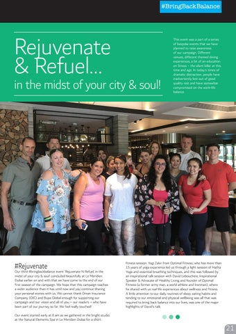 Page 21 of Rejuvenate & Refuel